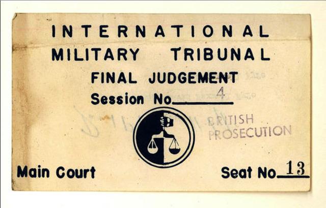 International Military Tribunal passes judgment on major Nazi war criminals
