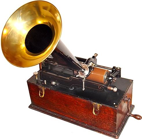 El Fonógrafo - la primera grabadora de audio.