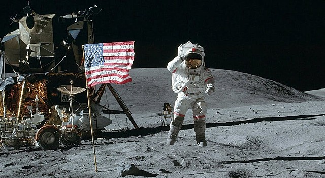 First men to land on the Moon.