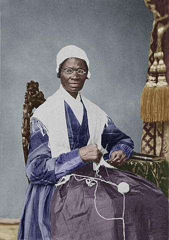 """Sojourner Truth gives """"Ain't I a Woman?"""" Speech at Women's Rights Convention in Akron, Ohio"""