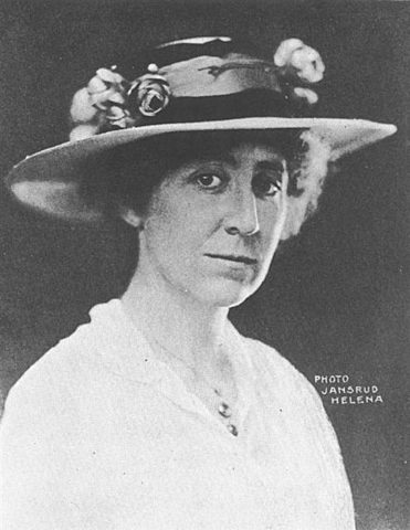 Jeannette Rankin was sworn into Congress as a member of the House of Representative