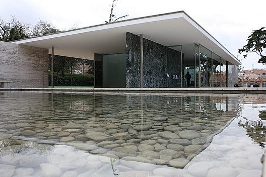 Pabellón alemnán en la Exposición Universal de Barcelona de 1929 / Mies Van der Rohe