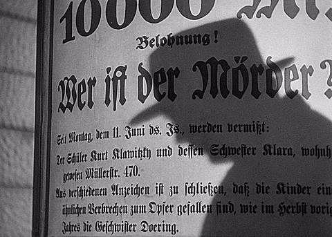"""""""M, el vampiro de Dusseldorf"""":  Fritz Lang"""