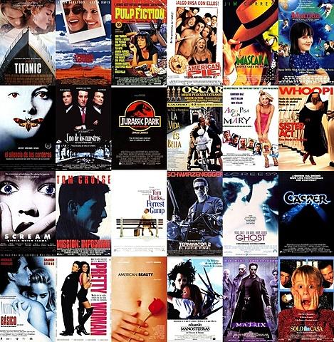 El cine de los ´90 – Hollywood: mucha más que juegos artificiales.