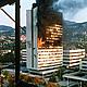 Evstafiev sarajevo building burns