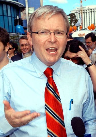During the campaign for the 2007 parliamentary election, Australian Labor Party candidate Kevin Rudd promises to put an end to the 'Pacific Solution' if he were elected.