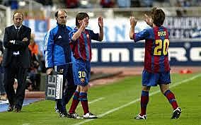 Debut con el primer equipo de Barcelona
