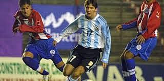 Primer partido oficial con la seleccion Argentina