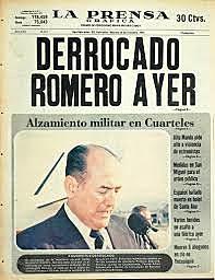 Golpe de Estado al Gobierno de Carlos Humberto Romero