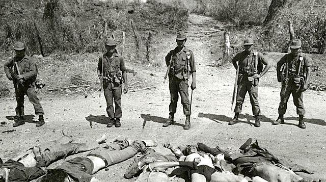 Masacre del Mozote en el norte del departamento de Morazán.