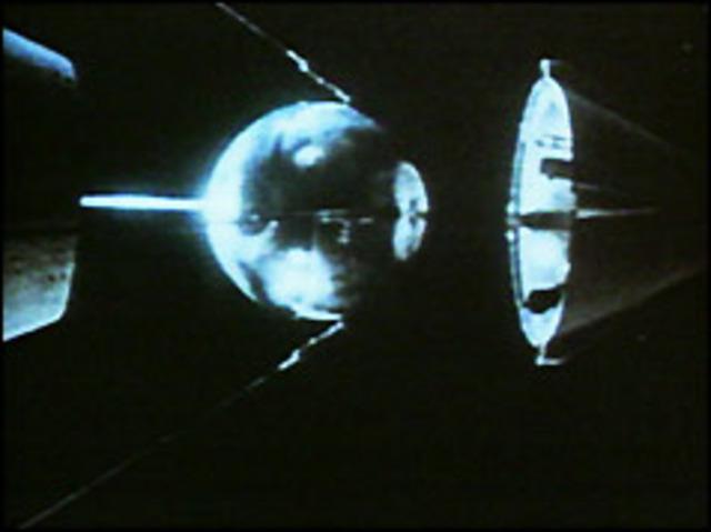 Sputnik satellite blasts into space