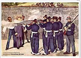 Ejecución del emperador Maximiliano de México, Manet