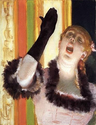 Cantante  de  café-concierto  con  guante, Degas
