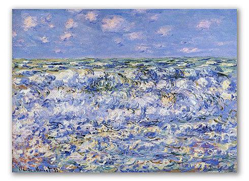 Olas rompiendo, Monet