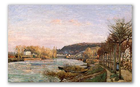 El Sena en Bougival, Pissarro