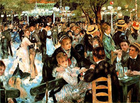 Baile en Moulin de la Galette, Renoir