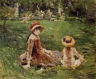 En el jardín de Marecourt, Morisot