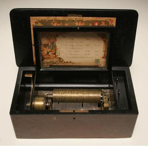 The first music boxes.
