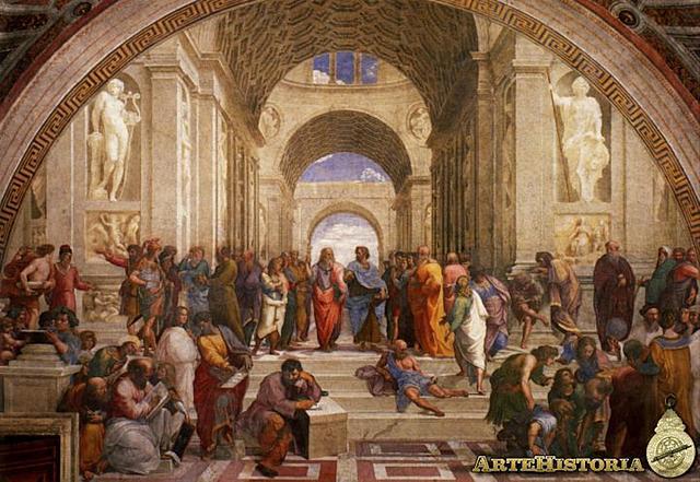 Raffaello Sanzio pinta l'Escola d'Atenes