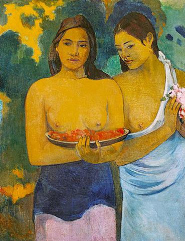 Mujeres tahitianas, Gauguin