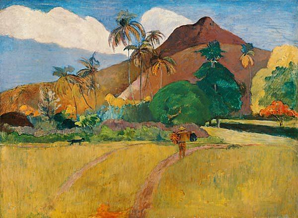 Paisaje tahitiano, Gauguin