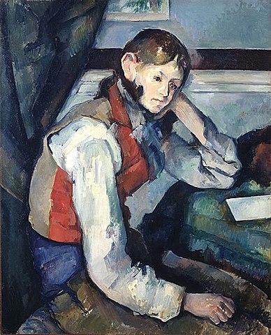 El chico del chaleco rojo, Cézanne