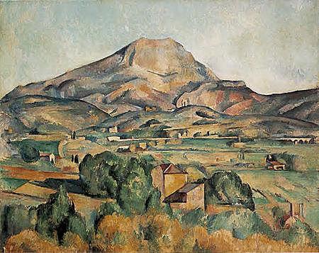 La montaña Sainte-Victoire vista desde Bellevue, Cézanne