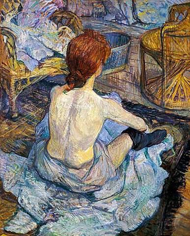 La mujer en el baño, Toulouse-Lautrec