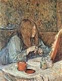 Madame Poupoule en su tocador, Toulouse-Lautrec