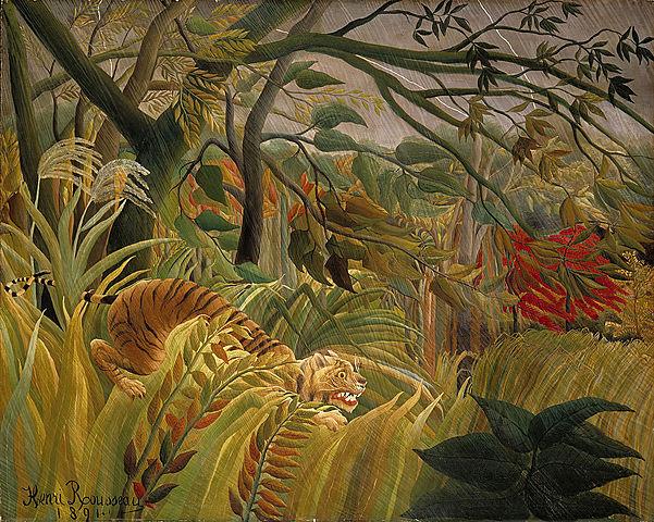 Tormenta tropical con un tigre, Rosseau