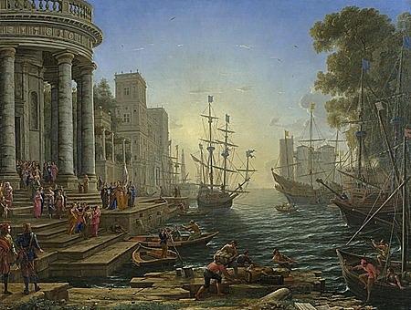 Puerto con el embarque de Santa Úrsula