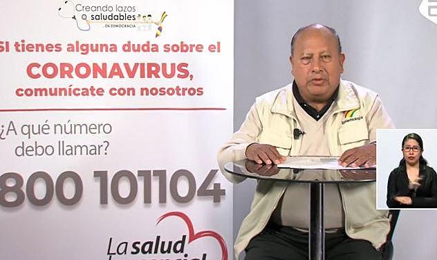 Salud afirma que tasa de letalidad por COVID-19 en Bolivia está por debajo de los países desarrollados