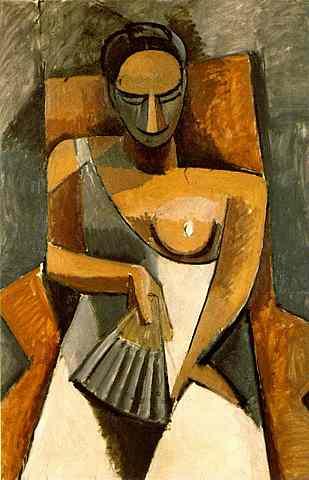 Mujer con abanico, Picasso