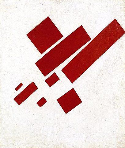 Ocho rectángulos rojos, Malevich