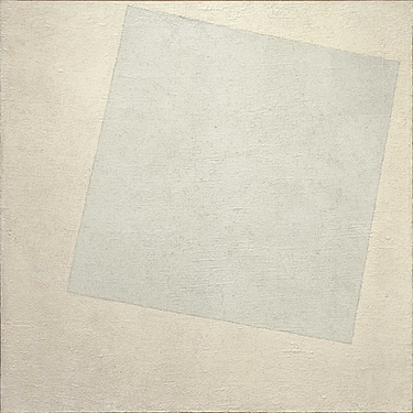 Cuadrado blanco sobre fondo blanco, Malevich