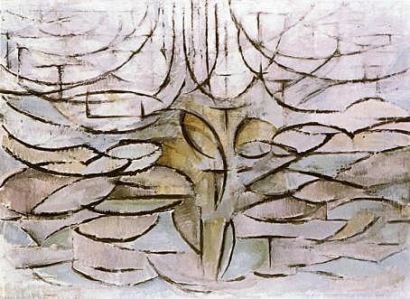Manzano en flor, Mondrian