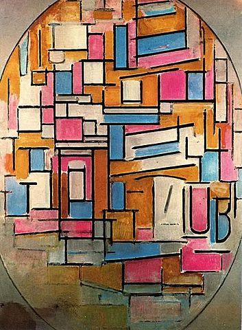 Composición oval, Mondrian