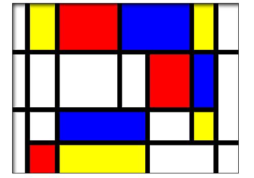 Composición 16, Mondrian