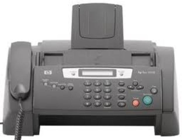 FAX machines become popular.