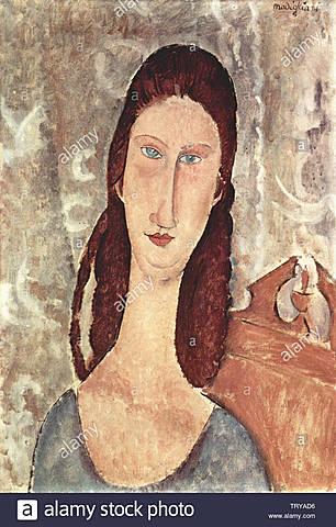 Cabeza de Jeanne Hebuterne, Modigliani