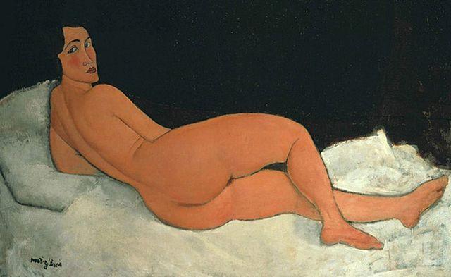 Desnudo echado sobre el costado izquierdo, Modigliani