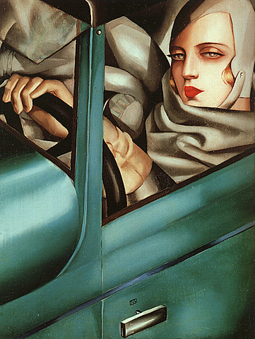 Mujer del guante verde, Tamara de Lempicka