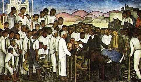 El reparto de tierra, Rivera