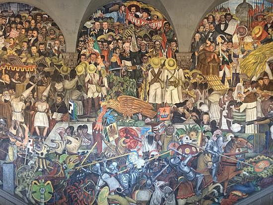 Murales en la Secretaria de Instrucción Pública, Rivera