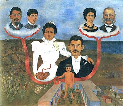 Mis abuelos, mis padres y yo, Kahlo