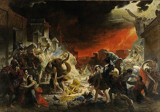 Date de mon choix : La destruction de Pompéi