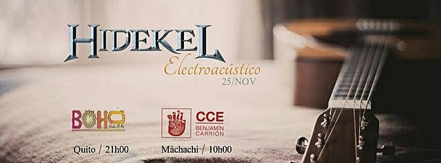 HIDEKEL ELECTROACÚSTICO MACHACHI
