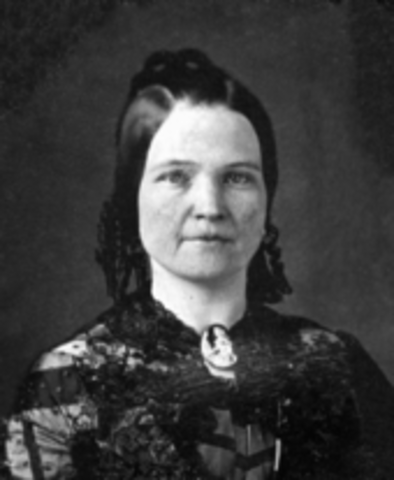 Lincoln's wife Mary Todd.