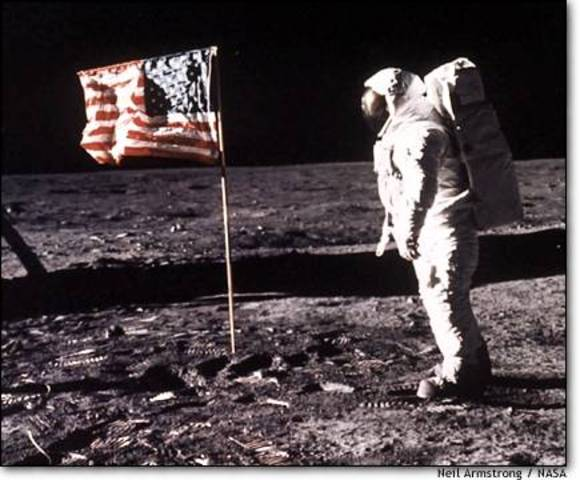 Man landing on the moon