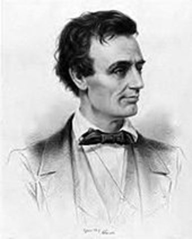 Lincoln's first election.